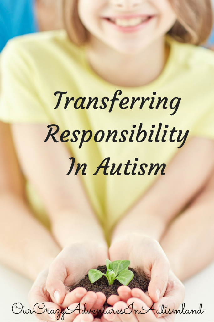 How do the parents and caregivers of a child with autism work on transferring responsibility? This can be difficult, yet it's also necessary.