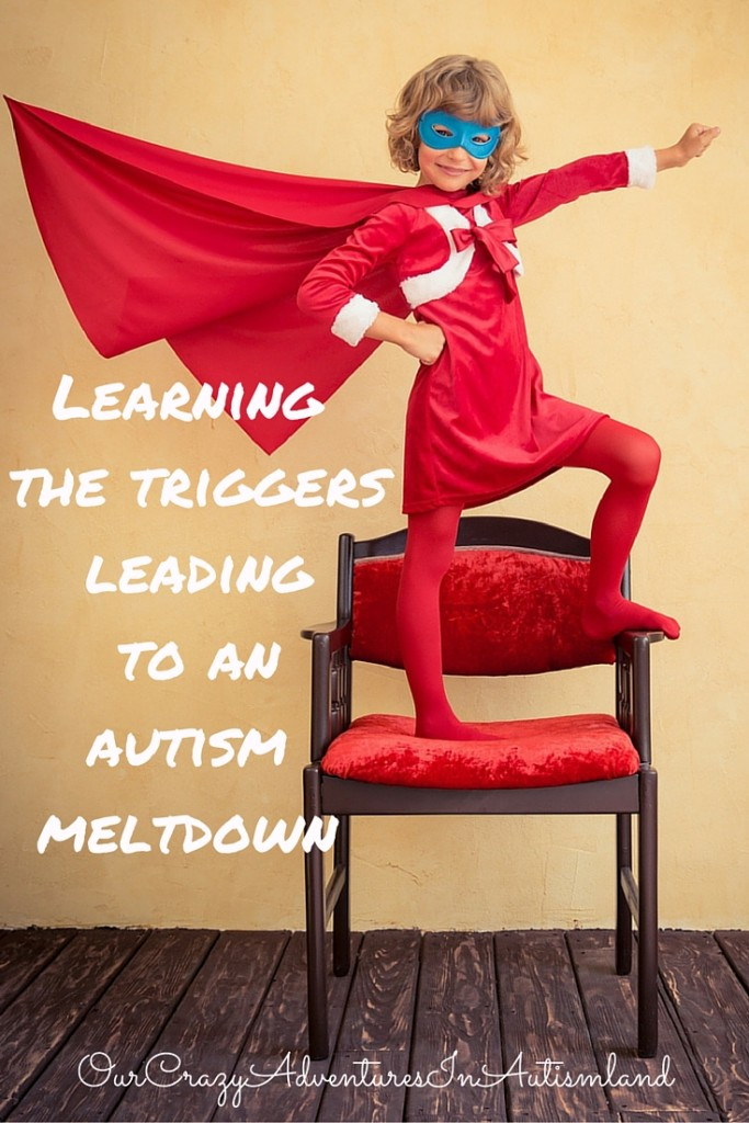 Learning the triggers leading to an autism meltdown can change the quality of life for your child. This information is invaluable.