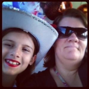 My girl and I on the monorail to Magic Kingdom