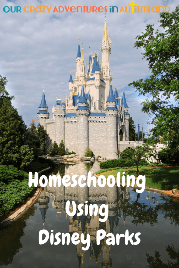 Are you going to a Disney Park on vacation or live near one? Why not use them to your advantage while homeschooling. #autismland #homeschooling #Disney #WDW