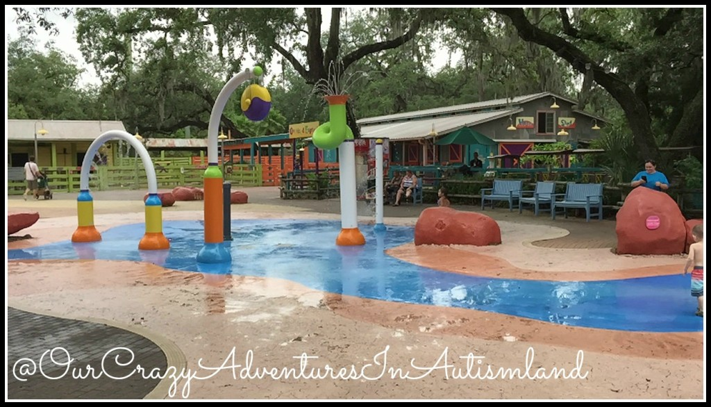Water play area at Tampa's Lowry Park Zoo