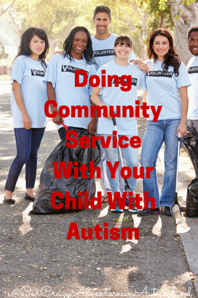 Doing community service with your child with autism doesn't have to be a chore.  Think outside the box for a way to work as a team