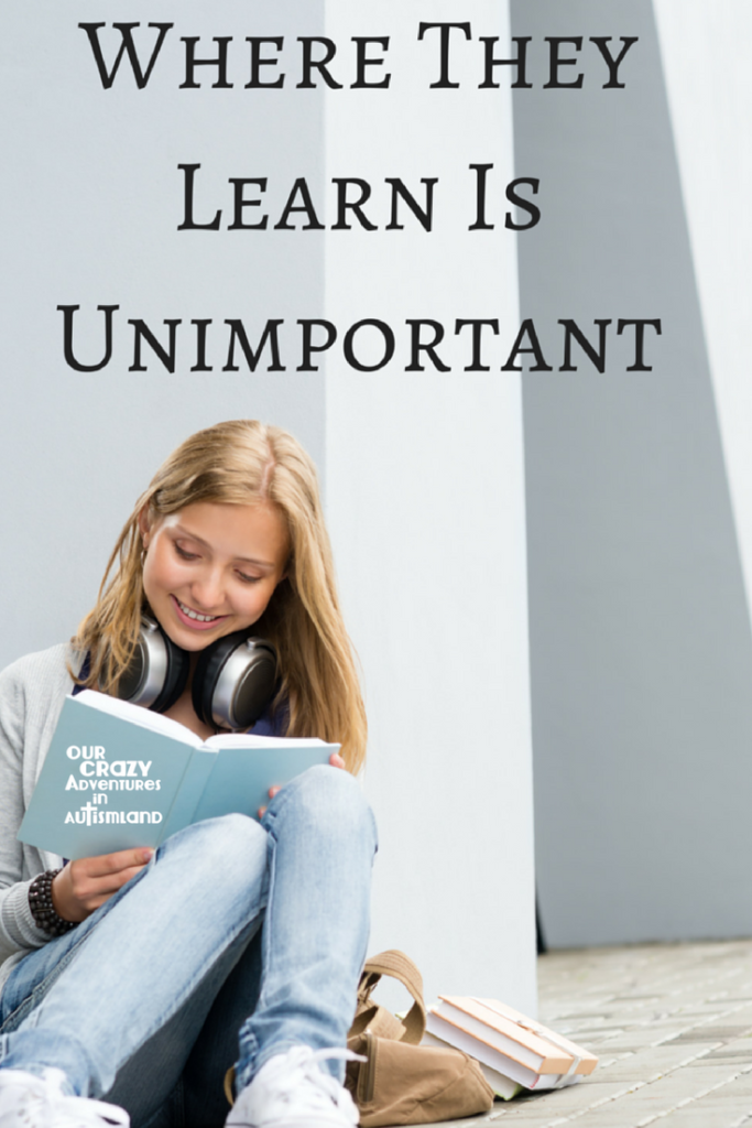 Where they learn is unimportant in homeschooling is a gentle reminder that learning can happen anywhere at anytime if you let it