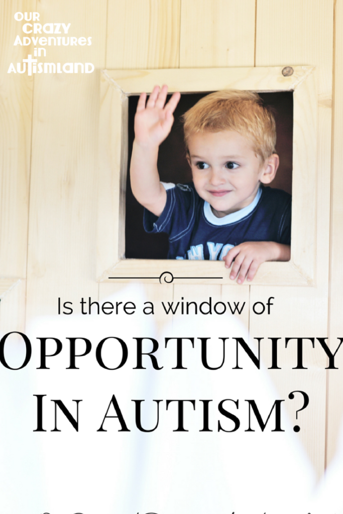 Is there a window of opportunity in autism? Should you abandon all hope for your child's future because they are older or is there still hope?