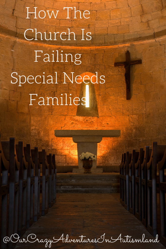 The church needs to make an effort to help families with special needs.