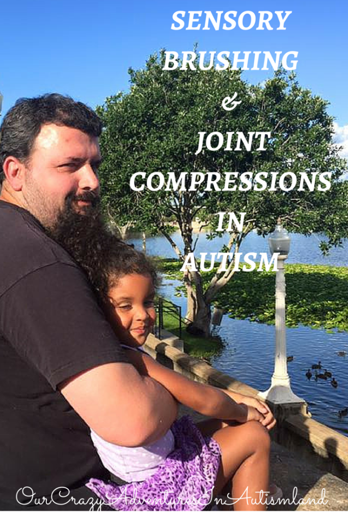 Sensory brushing & joint compressions for autism are a much needed part a well done sensory diet or at home occupational therapy program.