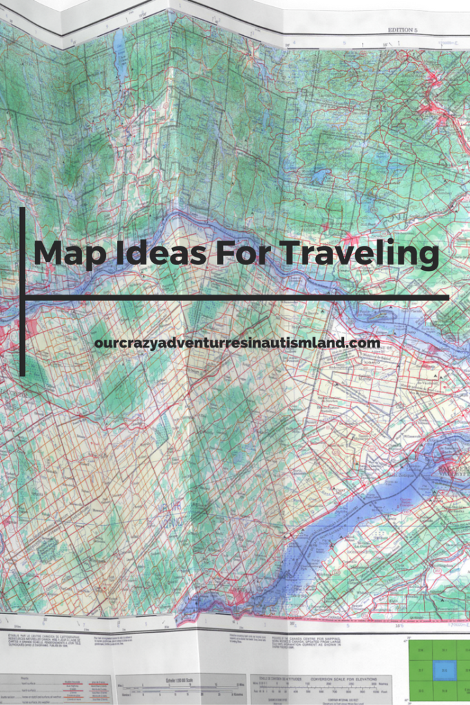 Map Ideas for traveling a long distance is an inside look as to how I teach my children how to read maps while we are going somewhere.