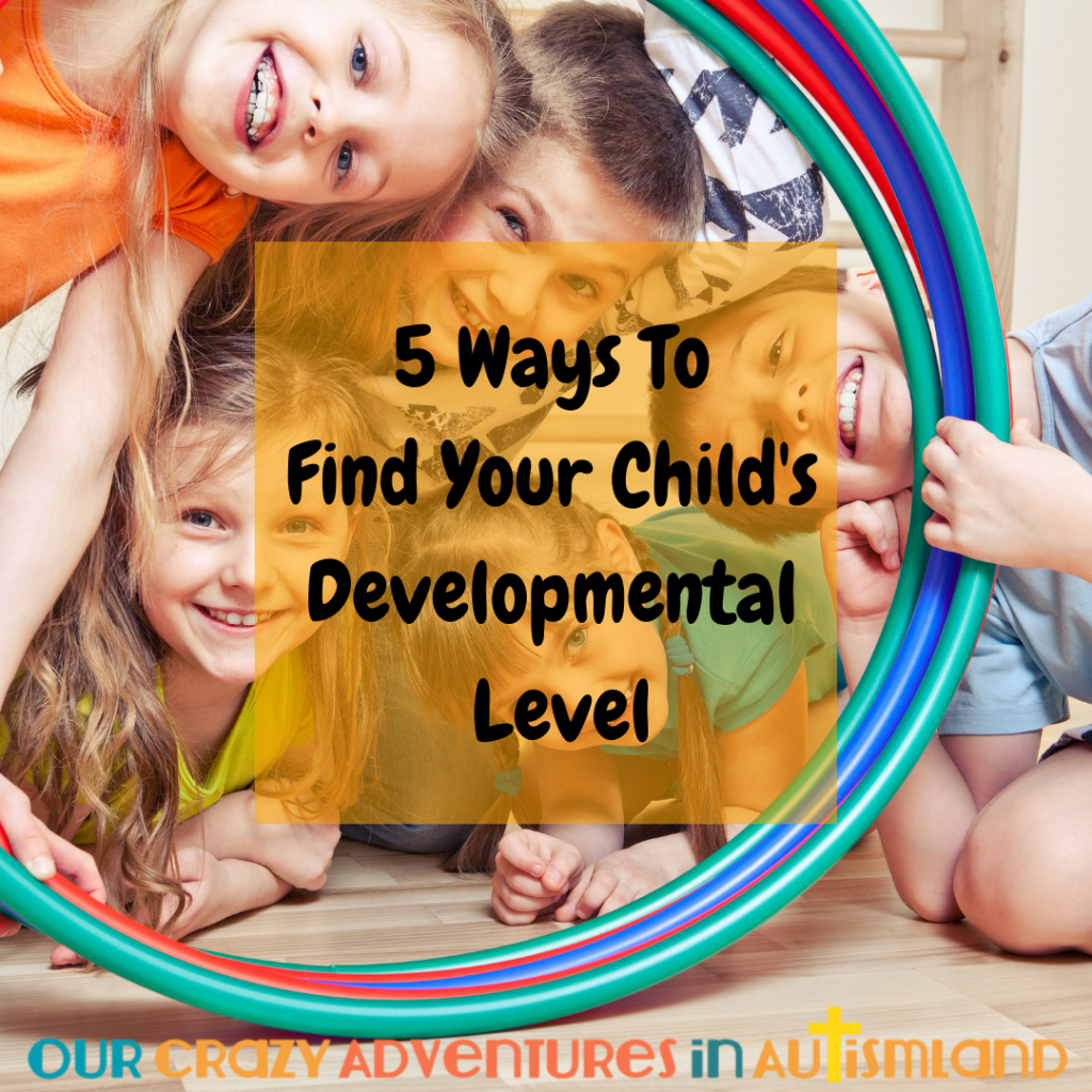5 ways to find their developmental level will show you how to help your special needs child work at a level he needs to make the most progress.