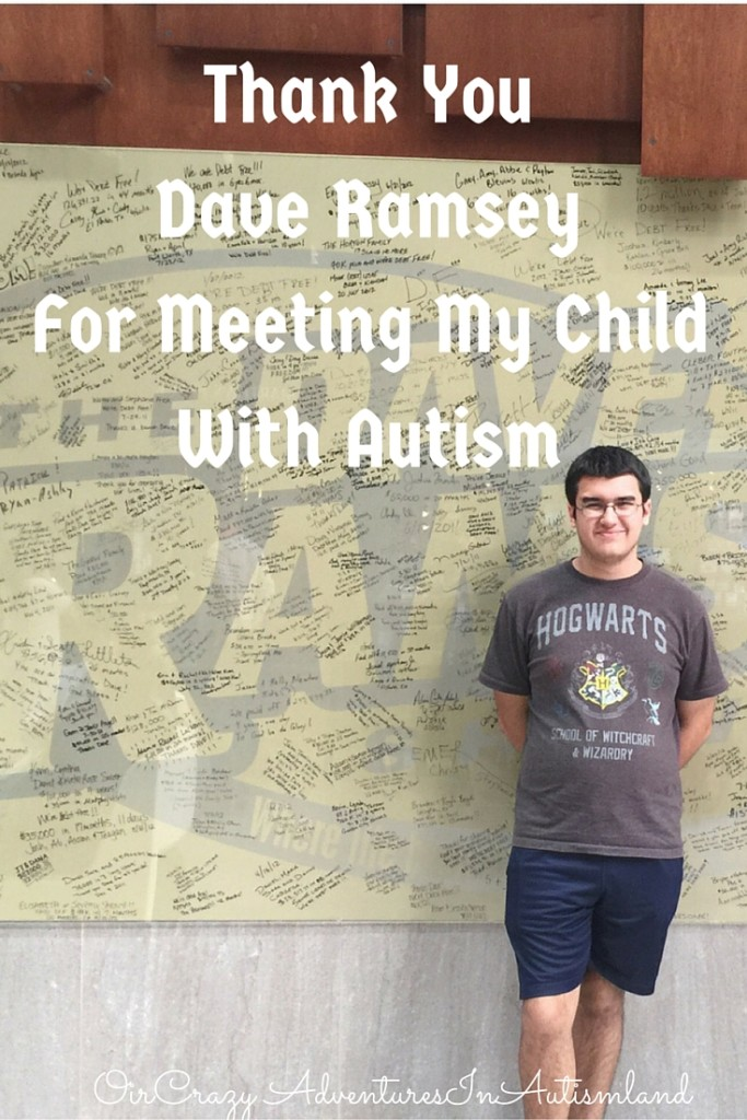 Our visit to see Dave Ramsey while we were in Nashville for the Teach Them Diligently Conference. He was kind enough to meet my child with autism.