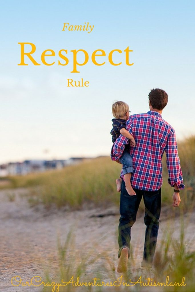 Families should treat each other with respect at all times. By teaching this to children early , it becomes a habit ingrained in them. This can be accomplished even in children with autism.