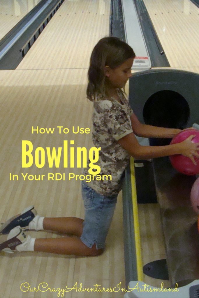 How to use bowling in your rdi program for autism. Non verbal cues, productive uncertainty, & taking turns are all areas of weakness for people with autism.