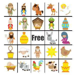 Nativity Bingo Set with Calling Card