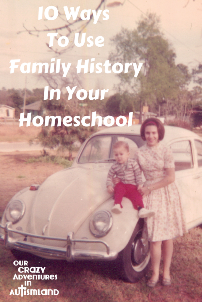 10 ways to use family history in your homeschool shows you ways to teach family heritage while teaching other subjects giving children a sense of belonging.