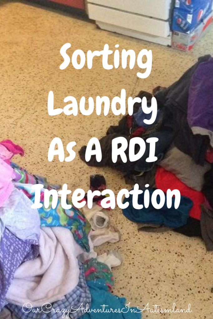 Using Sorting Laundry As A RDI Interaction In Autism