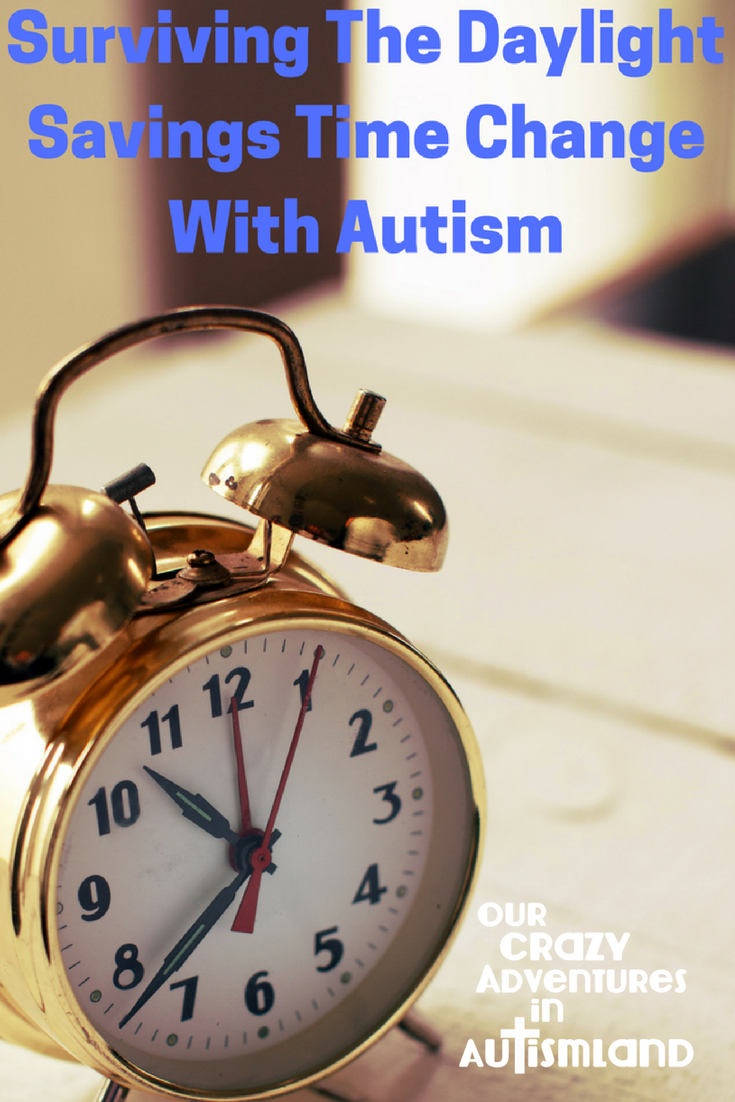 Surviving the daylight savings time change with autism means preparation is essential. A little advance prep will go a long way in easing the transition.