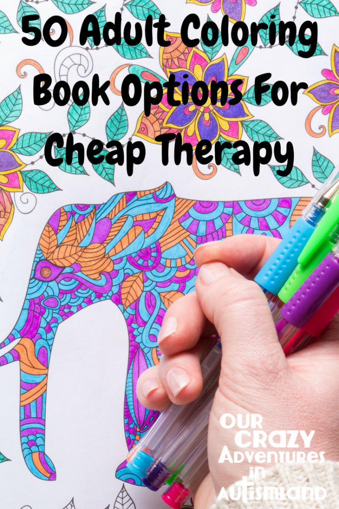 50 coloring book options for cheap therapy reminds us that self care is important but doesn't need to be expensive. Take time for yourself.
