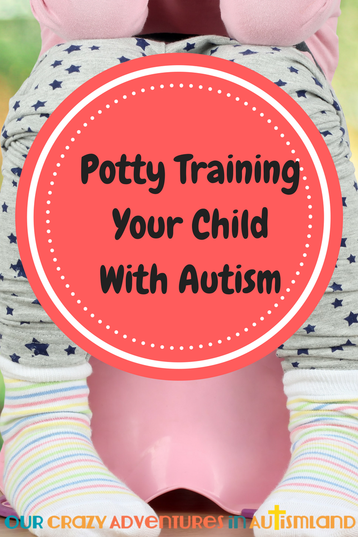 Interested in working on potty training your child with autism? Like all things in autism, it can be done with lots of patience and a good plan.