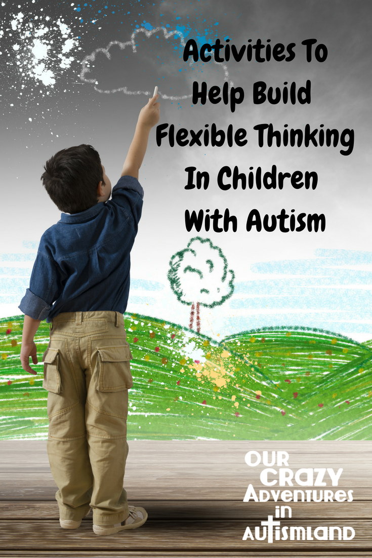 Activities to help build flexible thinking in children with autism lists ways to work on this deficit to improve their quality of life.