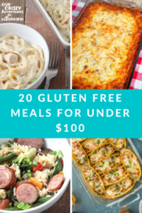 20 gluten free meals for under $100 that your kids will eat. Eating gluten free does not have to break the bank nor be tasteless.