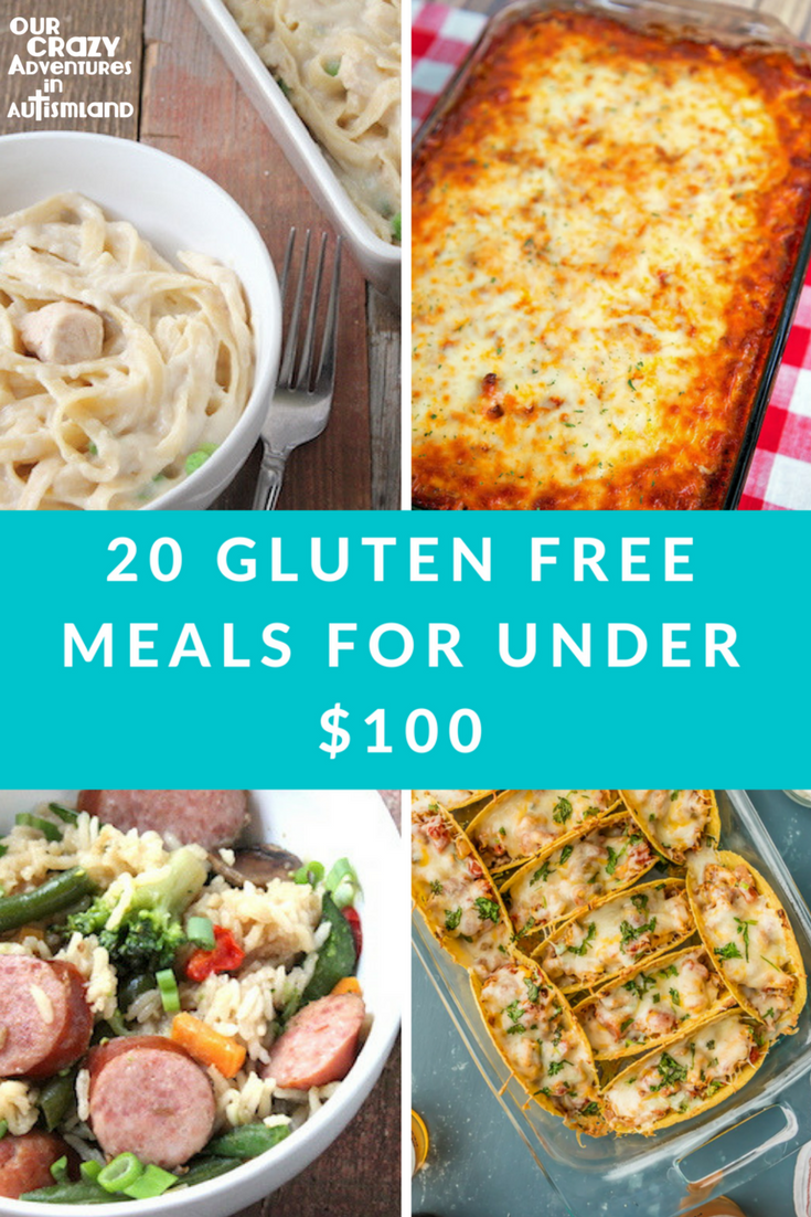 Eating gluten free doesn't have to break the bank. Here are 20 options under $100 that your kids will eat.