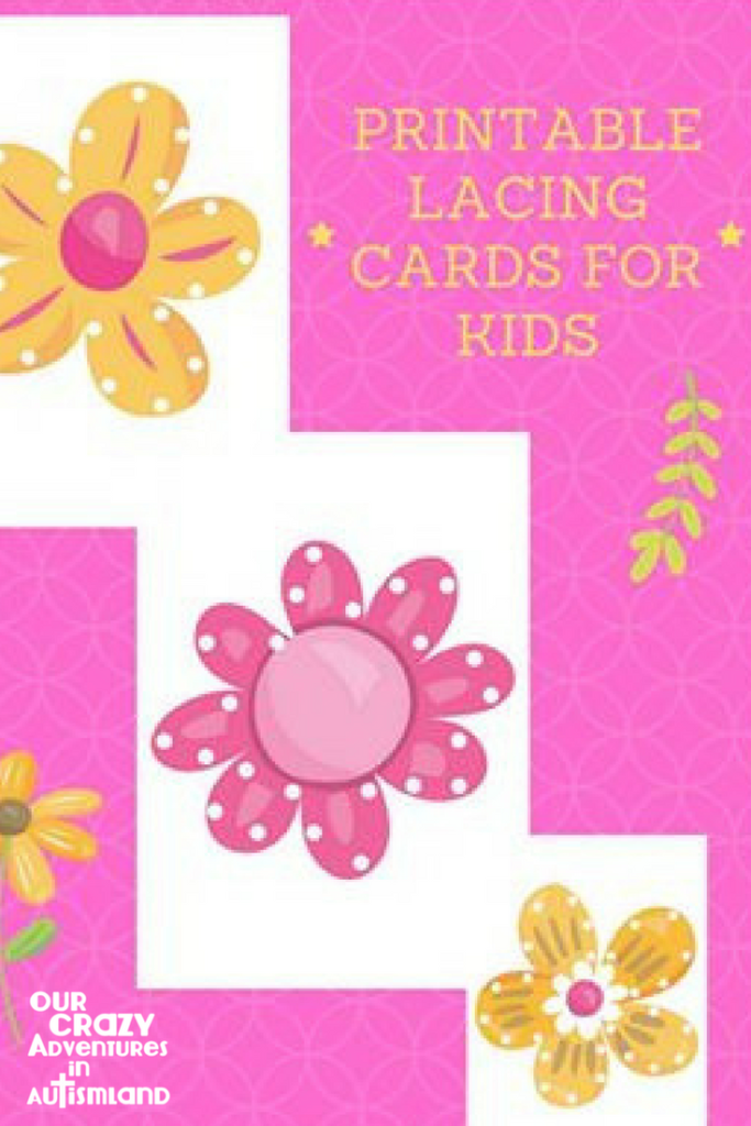 graphic relating to Printable Lacing Cards referred to as Totally free Lace Bouquets Printable For High-quality Engine Do the job Inside Autism