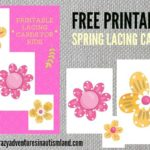 FREE lace flowers printable for fine motor work in autism shares how we use lacing activities in autismland to work on fine motor skills.