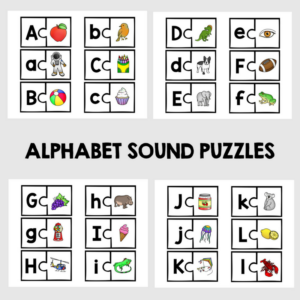 ABC Phonics Puzzles are a great way to teach phonics to visual learners. Get all 26 letters of the alphabet with a corresponding picture.