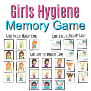 Girl's Hygiene Memory Game