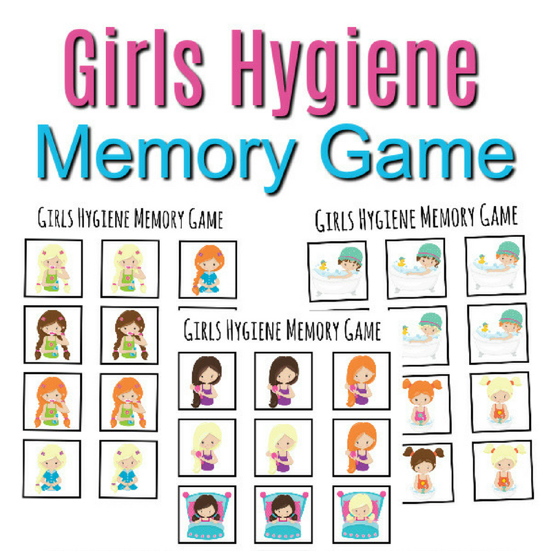 Girls Hygiene Memory Game