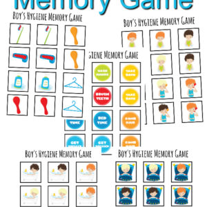 Boy's Hygiene Memory Game