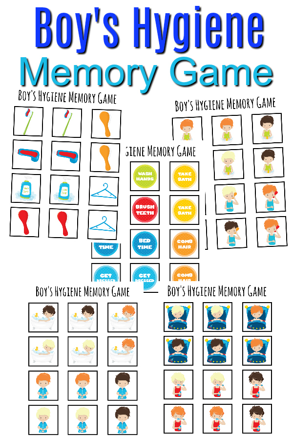 Boys Hygiene Memory Game