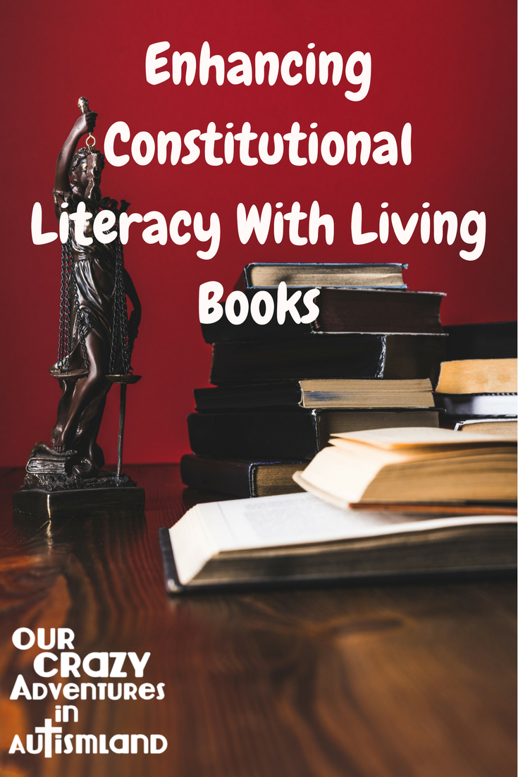 One way we enhance our Constitutional Literacy studies is with living books. It's important to read the stories and cases that have molded the most important document in American History.