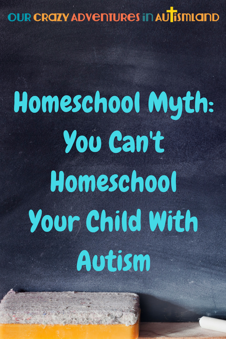 Many people believe the myth that you can't homeschool a child with autism. While it's not all rainbows and unicorns but it will be absolutely worth it.  #homeschool