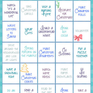 Countdown To Christmas Bingo