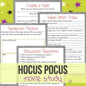 Hocus Pocus Halloween Movie Study