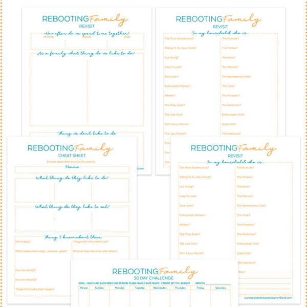 Does your family need a reboot? Do you need to take time to recognize the awesomeness that is your family? Take our 30 day Rebooting Family Challenge and get your family on the path to greatness!