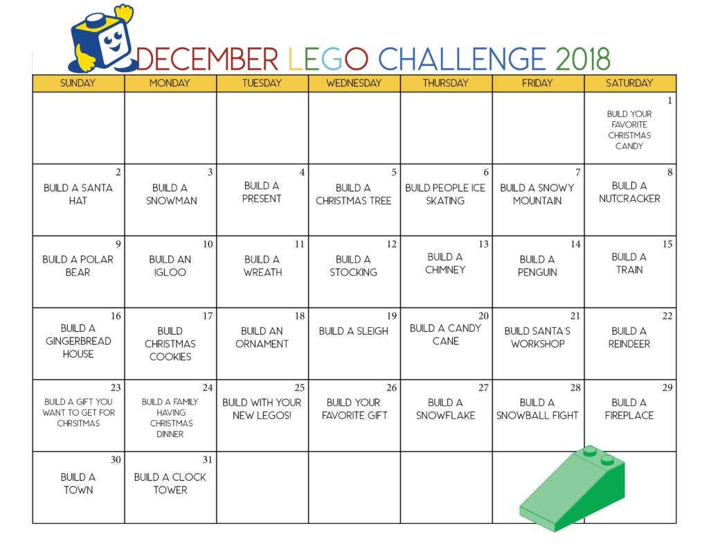 Free Printable Christmas Lego Calendar