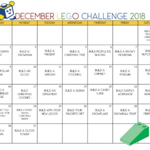 Christmas Lego Printable Calendar