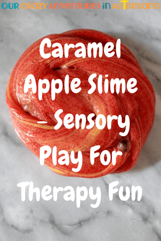 Slime is an excellent therapy tool to build up hand strength in your at home OT program. Bonus that it's easy to make too!  #autismland #autism #homeschool #therapy #autism