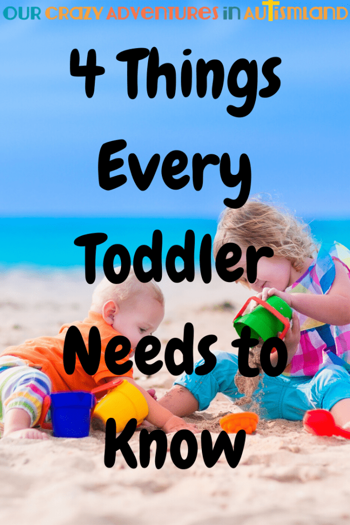Believe it or not, there are only 4 things your toddler needs to know! They aren't developmentally ready for anything but these 4 things.  #autismland #autism #toddler  #developmental