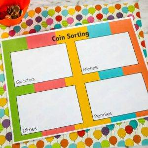 Coin Sorting Printable