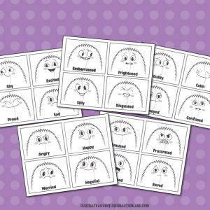 Emotions and Feelings Monster Puzzles