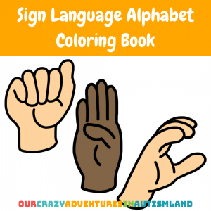 Sign Language Alphabet Coloring Book